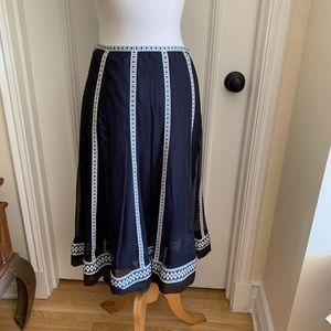 Catherine Maladrino Skirt Sz 2 Black/White LIned